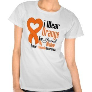 Leukemia I Wear Orange Ribbon For My Grandmother Shirt