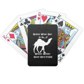 White Hump Day Camel Playing Cards