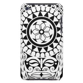 Polynesian sun & mask tattoo design iPod touch covers