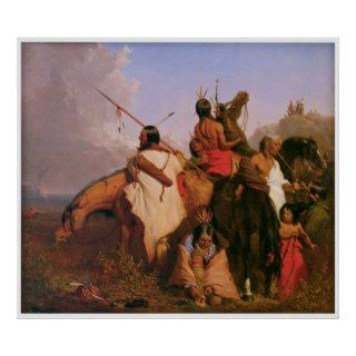 Group of Sioux by Charles Deas 1845 Print
