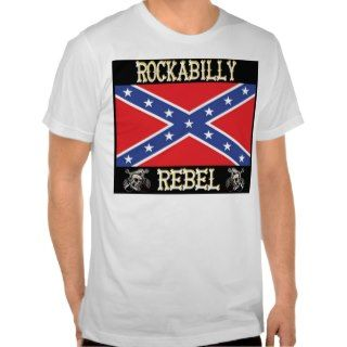 Rockabilly Rebel   Confederate Flag   T Shirt