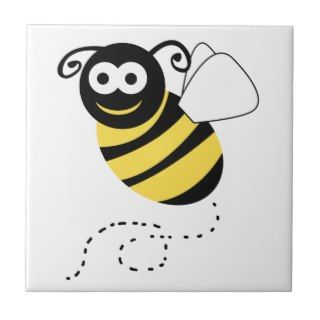 Happy Bee Clipart Tile