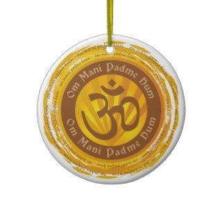 Tibetan Mantra Aum Symbol Christmas Tree Ornament
