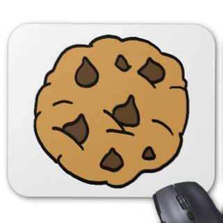 Cartoon Clipart HUGE Chocolate Chip Cookie Dessert Mousepads