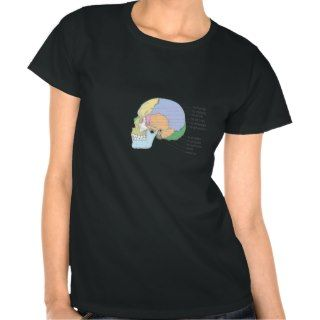 Human Skull Bone Name Chart Tees