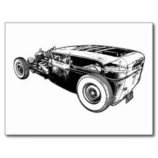 Rat Rod   5 Window Post Cards
