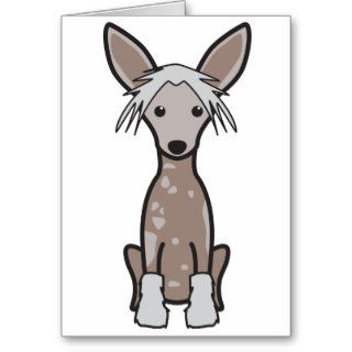 Chinese Crested Dog Cartoon Cards