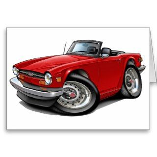 Triumph TR6 Red Car Cards