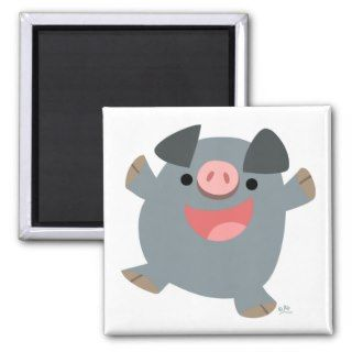 Cute Cartoon Bouncy Pig Magnet