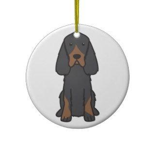 Gordon Setter Dog Cartoon Ornament