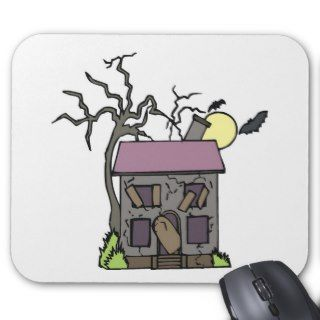 Boarded Up Haunted House Mouse Mats