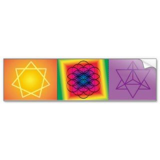 sacred geometry trio bumper sticker