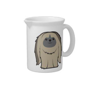 Pekingese Dog Cartoon Beverage Pitchers