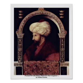 Portrait Of Fatih Sultan Mehmed Ii The Conqueror Poster