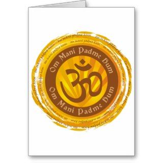 Tibetan Mantra with Aum Symbol Greeting Card