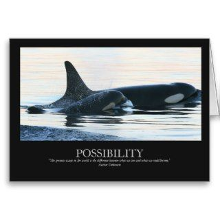 Orca Whale Killer Whale Endangered Possibility Greeting Card