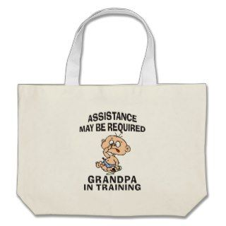 New Grandpa In Training Tote Bags