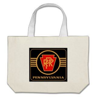 Pennsylvania Railroad Keystone, Black & Gold Bag