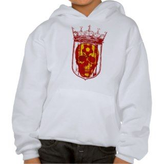 Hard core Spanish futbol fans skull shield gifts Hooded Sweatshirts