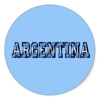 Argentina flag logo soccer ball gifts and futbol stickers