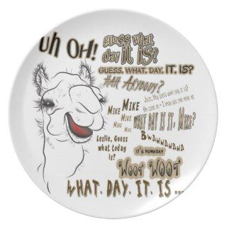 Hump Day Camel Party Plates