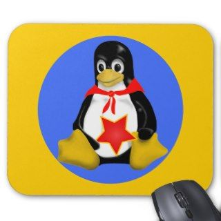 LINUX TUX COMMUNIST PARTISAN MOUSE PAD