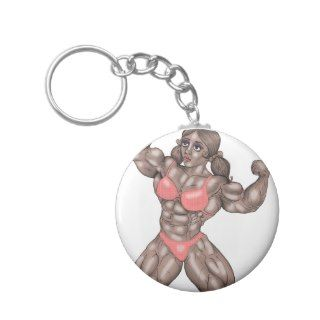 Bodybuilding: Female Muscle Worship Design Key Chain