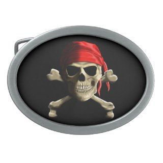 The Jolly Roger Oval Belt Buckle