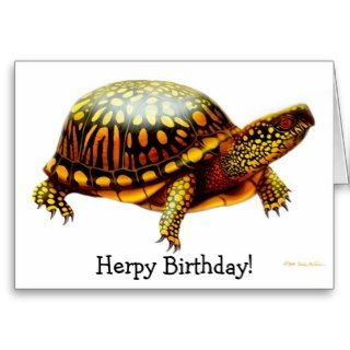 Herps Herpy Birthday Turtle Card