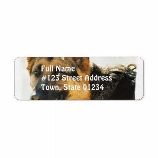 German Shepherd Dog Photo Mailing Label