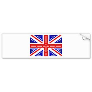 Cool Tribal tattoo British flag Bumper Sticker
