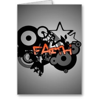 FAITH Graffiti Art Greeting Cards