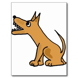 XX  Funny Biting Dog Cartoon Post Cards