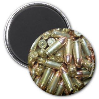 9mm ammo Ammunition Refrigerator Magnets