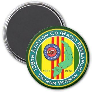 138th Avn Co RR LJ2   ASA Vietnam Fridge Magnets