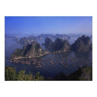 Ha Long Bay in Vietnam viewed above Print