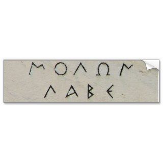 Molon Labe Sticker Bumper Stickers