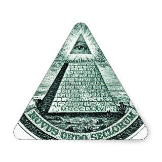 Eye On The Dollar Illuminati Pyramid Triangle Sticker