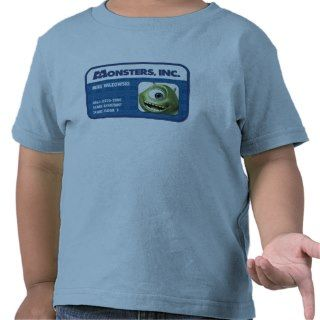 Monsters Inc. Mike Wazowski employee ID card T Shirt