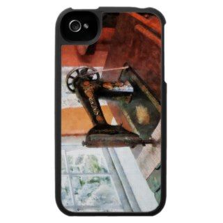 Sewing Machine Near Lace Curtain iPhone 4 Case