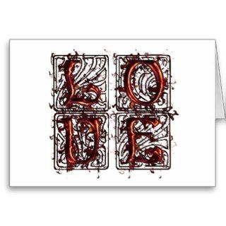 Love, Old English Font Cards