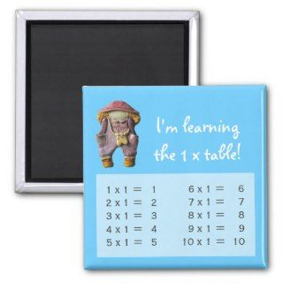 one times table magnet