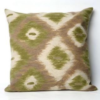 Liore Manne Ikat Diamonds Green Pillow Set   Decorative Pillows at