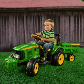 Peg Perego John Deere Farm Power with Trailer Battery Powered Riding