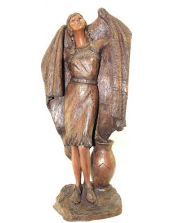 "Gregory Perillo Native American Indian Woman Sculpture Statue ""Fresh Waters"""