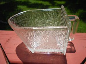 Old Vintage Antique Hoosier Cabinet Style Large Glass Scoop Kitchen Utensil