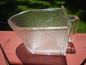 Old Vintage Antique Hoosier Cabinet Style Large Glass Scoop Kitchen Utensil