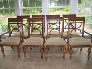 Ashley Furniture Kuliwood Leather Dining Room Chairs 8 Plus Free Table