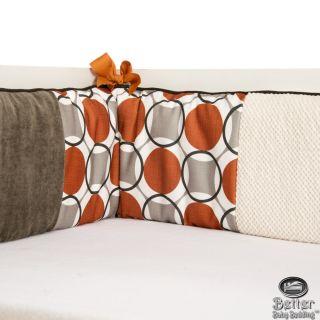 Glenna Jean Baby Neutral Orange Crib Nursery Bedding Quilt Set Bed Accessories