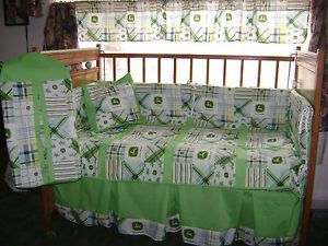 John Deere Green Kids Nursery Baby Bedding Set Crib Sheet Free Shipping
